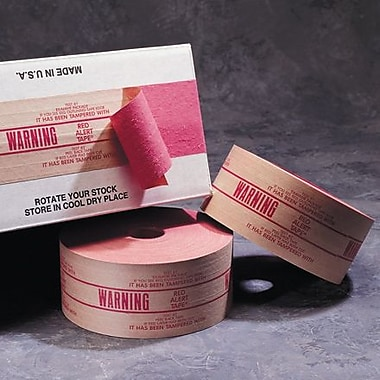 Central 260 Pre-Printed Reinforced Tape, in.Warningin., 3in. x 450', 10 Rolls