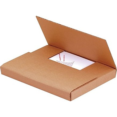 12 1/2in. x 12 1/2in. x 2 1/2in. - Staples Kraft Easy-Fold Mailer, 50/Bundle