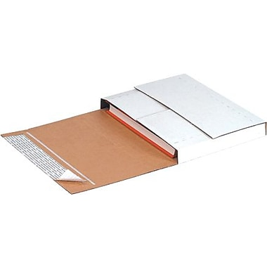 12 1/8in. x 9 1/8in. x 2in. - Staples Deluxe Easy-Fold Mailers