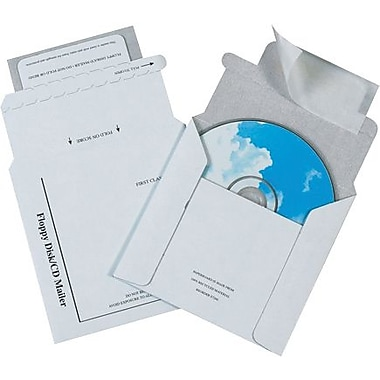 5 1/8in. x 5in. - Staples Foam Lined CD Mailers, 100/Case