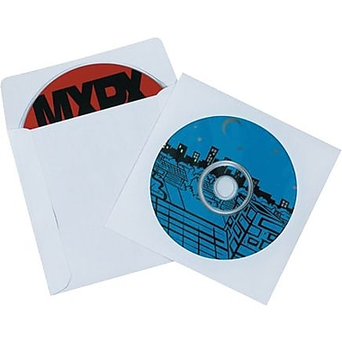 4 7/8in. x 5in. - Staples Paper Windowed CD Sleeves, 500/Case