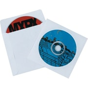 "4 7/8"" x 5"" - Staples Paper Windowed CD Sleeves, 500/Case"