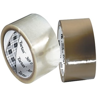 3M 369 Cartons Sealing Tape, Clear, 3in. x 1000 yds., 4 Rolls