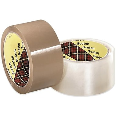 3M 371 Carton Sealing Tape, Clear, 3in. x 1500 yds., 4 Rolls