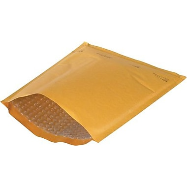 Staples® Heat-Seal #4 Bubble Mailers, Kraft, 9-3/8