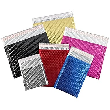 Staples 13 3/4in. x 11in. Black Glamour Bubble Mailer, 48/Case