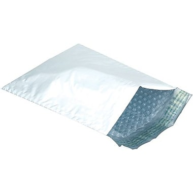 Staples® Bubble Lined Poly Mailers, 4-7/8