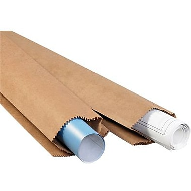 6in. x 3 1/2in. x 34in. - Staples Kraft Bag