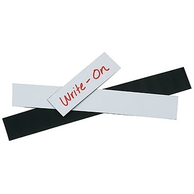 1in. x 8in. Staples White Warehouse Label - Magnetic Strip, 25/Case