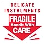 Tape Logic Delicate Instruments - Fragile Shipping Label,