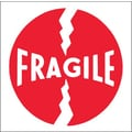 Tape Logic Fragile (Round) Tape Logic Shipping Label, 4in. x 4in.