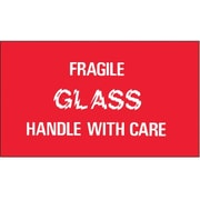 Tape Logic Fragile - Glass - Handle With Care Shipping Label, 3 x 5, 500/Roll