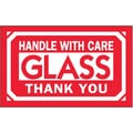 Tape Logic Glass - Handle With Care Thank You Shipping Label, 3in. x 5in.