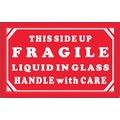 Tape Logic Fragile - Liquid in Glass - HWC Shipping Label, 3in. x 5in., 500/Roll