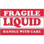 Tape Logic Fragile - Liquid - Handle With Care Shipping Label, 3 x 5, 500/Roll