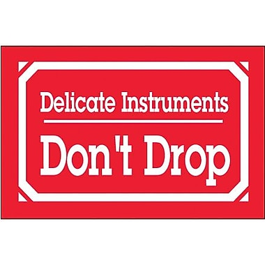 Tape Logic Delicate Instruments - Don't Drop Shipping Label, 3in. x 5in., 500/Roll