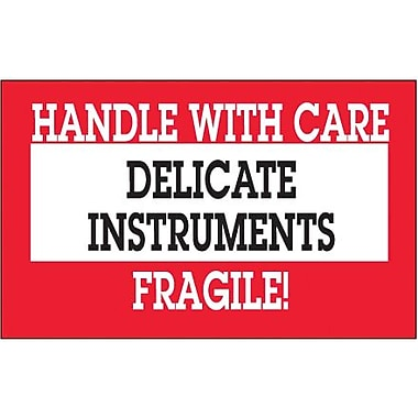 Tape Logic Delicate Instruments - HWC Shipping Label, 3in. x 5in.