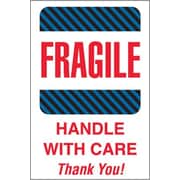 "Tape Logic Fragile - Handle With Care Thank You! Shipping Label, 4"" x 6"", 500/Roll"