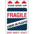 "Tape Logic Fragile - Liquid in Plastic Shipping Label, 4"" x 6"", 500/Roll"