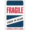 Tape Logic Fragile - Liquid in Glass Shipping Label, 4in. x 6in., 500/Roll
