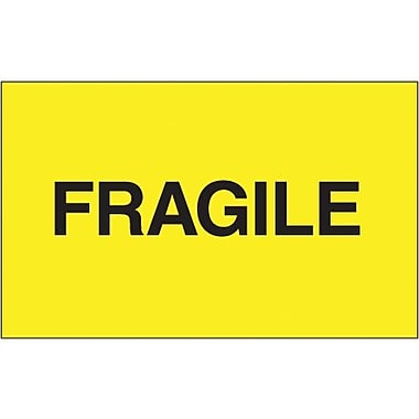 Tape Logic Fragile Shipping Label, 3in. x 5in., 500/Roll