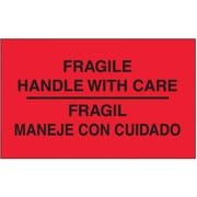 "Tape Logic Fragile - Handle With Care Shipping Label Bilingual, 3"" x 5"", 500/Roll"