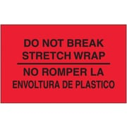 Tape Logic Do Not Break Stretch Wrap Shipping Label Bilingual, 3 x 5, 500/Roll