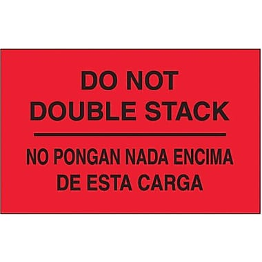 Tape Logic Do Not Double Stack Shipping Label Bilingual, 3in. x 5in., 500/Roll