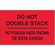 "Tape Logic Do Not Double Stack Shipping Label Bilingual, 3"" x 5"", 500/Roll"