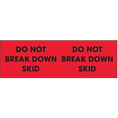 Tape Logic Do Not Break Down Skid Shipping Label, 3in. x 10in.
