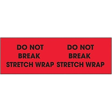 Tape Logic Do Not Break Stretch Wrap Shipping Label, 3in. x 10in.