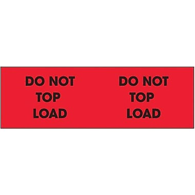 Tape Logic Do Not Top Load Shipping Label, 3in. x 10in.