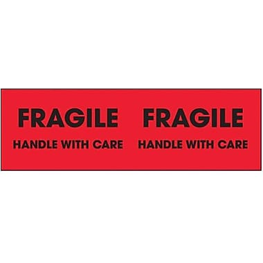 Tape Logic Fragile - Handle With Care Shipping Label, 3in. x 10in., 500/Roll