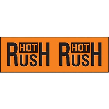 Tape Logic Hot Rush Shipping Label, 3in. x 10in.