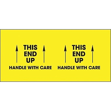 Tape Logic This End Up - Handle With Care Shipping Label, 3in. x 10in., 500/Roll