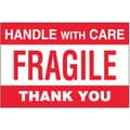 Tape Logic Fragile - Handle With Care Thank You Shipping Label, 4in. x 6in., 500/Roll