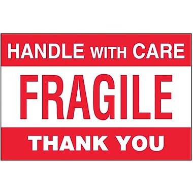 Tape Logic Fragile - Handle With Care Thank You Shipping Label, 4in. x 6in.