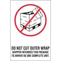 Tape Logic Do Not Cut Outer Wrap Shipping Label, 4in. x 6in.