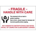 Tape Logic Fragile - Handle With Care Shipping Label, 4in. x 6in.