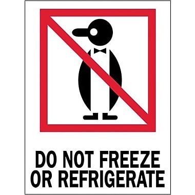 Tape Logic Do Not Freeze or Refrigerate Shipping Label, 3in. x 4in., 500/Roll