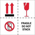 Tape Logic Fragile - Do Not Stack Tape Logic Shipping Label, 4in. x 4in., 500/Roll