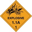 "Tape Logic Explosive - 1.1A - 1"" Tape Logic Shipping Label, 4"" x 4"", 500/Roll"