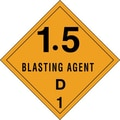 Tape Logic 1.5 - Blasting Agent - D 1in. Tape Logic Shipping Label, 4in. x 4in.