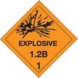"Tape Logic Explosive - 1.2B - 1"" Tape Logic Shipping Label, 4"" x 4"", 500/Roll"
