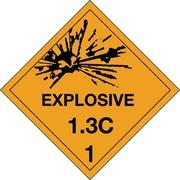 "Tape Logic Explosive - 1.3C - 1"" Tape Logic Shipping Label, 4"" x 4"", 500/Roll"