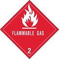 Tape Logic Flammable Gas - 2in. Tape Logic Shipping Label, 4in. x 4in.