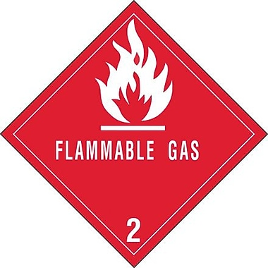 Tape Logic Flammable Gas - 2in. Tape Logic Shipping Label, 4in. x 4in., 500/Roll