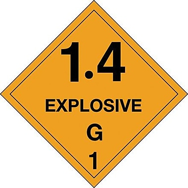 Tape Logic 1.4 - Explosive - G 1in. Tape Logic Shipping Label, 4in. x 4in.