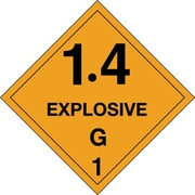 "Tape Logic 1.4 - Explosive - G 1"" Tape Logic Shipping Label, 4"" x 4"", 500/Roll"