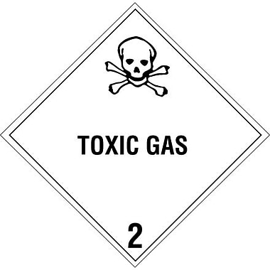 Tape Logic Toxic Gas - 2in. Tape Logic Shipping Label, 4in. x 4in.
